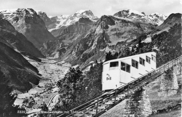 Braunwaldbahn mit Toedi vor 1961