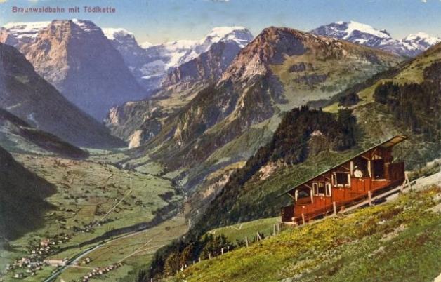 Braunwaldbahn mit Toedikette vor 1935_2